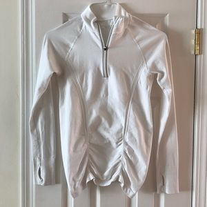 Athleta 3/4 zip fastest track top